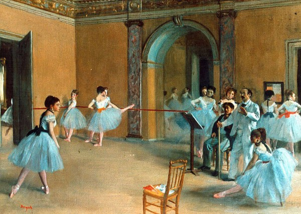 E. Degas - Rehearsal of the scene