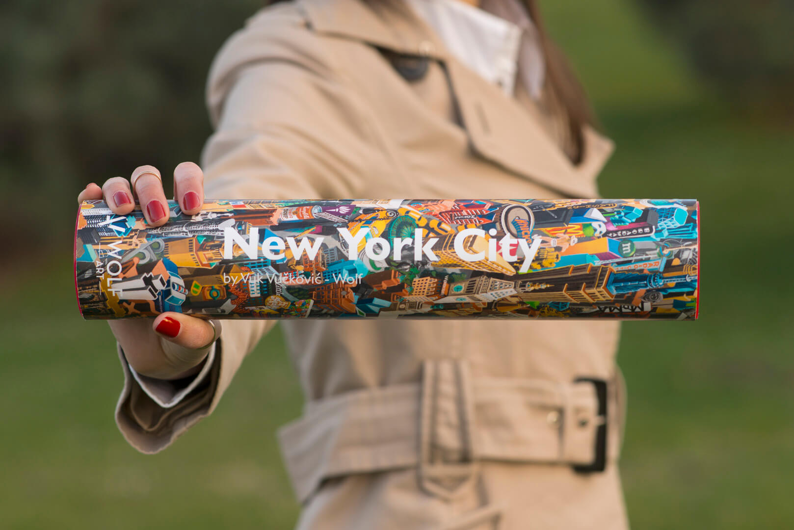 New York City - print na papiru - S - u tubi