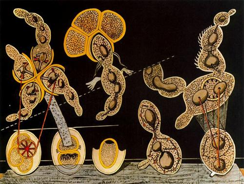 The gramineous bicycle garnished with bells the dappled fire damps and the echinoderms bending, www.wikiart.org