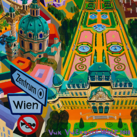 Wien - detail - oil on canvas by Vuk Vuckovic Wolf, 2018