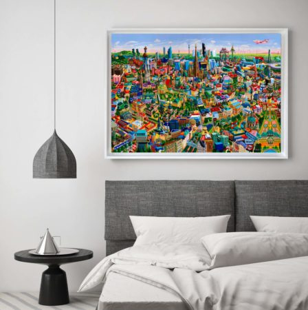 Wien, framed print on canvas, size L