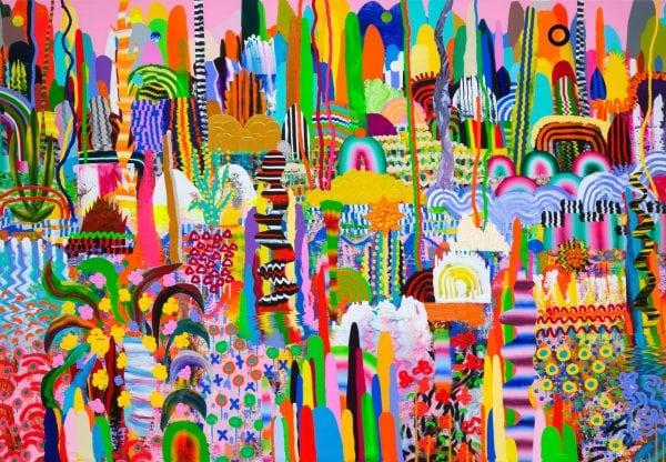 Love Joy 1, 150x215cm akrilne boje na platnu, 2019. (Zepter kolekcija)